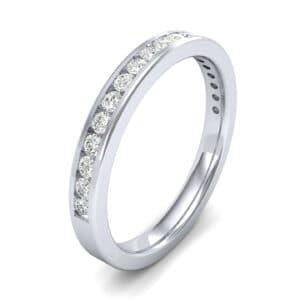 Thin Channel-Set Diamond Ring (0.31 Carat)