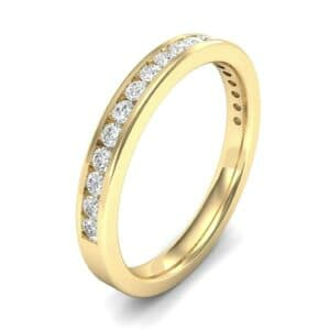 Thin Channel-Set Diamond Ring (0.31 Carat)