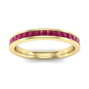Thin Channel-Set Ruby Ring (0.38 Carat)