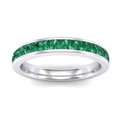 Medium Channel-Set Emerald Ring (1.44 Carat)