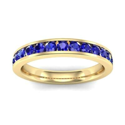 Medium Channel-Set Blue Sapphire Ring (1.44 Carat)