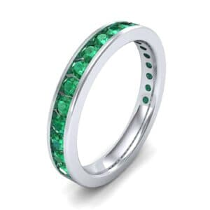 Medium Channel-Set Emerald Ring (1.83 Carat)