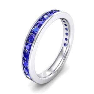 Medium Channel-Set Blue Sapphire Ring (1.83 Carat)