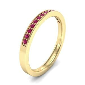 Thin Channel Pave Ruby Ring (0.17 Carat)