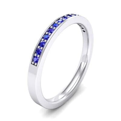Thin Channel Pave Blue Sapphire Ring (0.17 Carat)