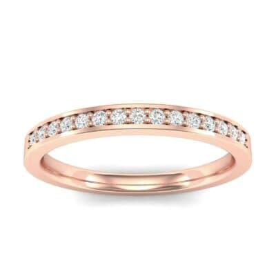 Thin Channel Pave Diamond Ring (0.13 Carat)