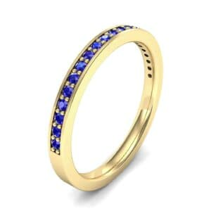 Thin Channel Pave Blue Sapphire Ring (0.24 Carat)