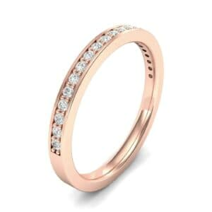 Thin Channel Pave Diamond Ring (0.18 Carat)