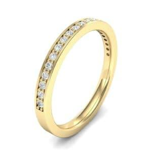 Thin Channel Pave Diamond Ring (0.18 Carat)