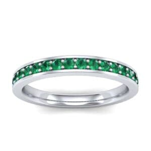 Medium Channel Pave Emerald Ring (0.36 Carat)