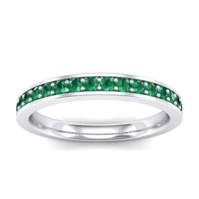 Medium Channel Pave Emerald Ring (0.36 Carat)