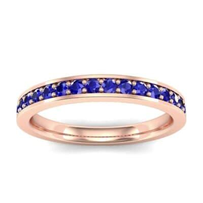 Medium Channel Pave Blue Sapphire Ring (0.36 Carat)