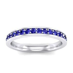 Medium Channel Pave Blue Sapphire Ring (0.36 Carat)