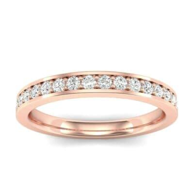 Medium Channel Pave Diamond Ring (0.29 Carat)