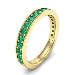 Medium Channel Pave Emerald Ring (0.88 Carat)