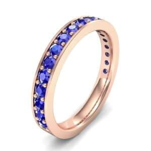 Medium Channel Pave Blue Sapphire Ring (0.88 Carat)