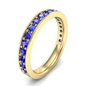 Medium Channel Pave Blue Sapphire Ring (0.88 Carat)