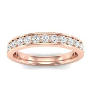 Medium Channel Pave Diamond Ring (0.57 Carat)
