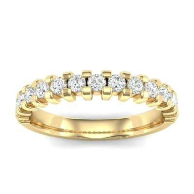 Extra-Thin Square Shared Prong Diamond Ring (0.14 Carat)