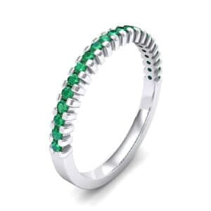 Extra-Thin Square Shared Prong Emerald Ring (0.24 Carat)