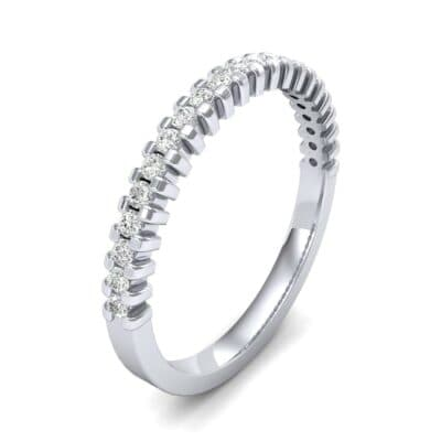 Extra-Thin Square Shared Prong Diamond Ring (0.18 CTW) Perspective View