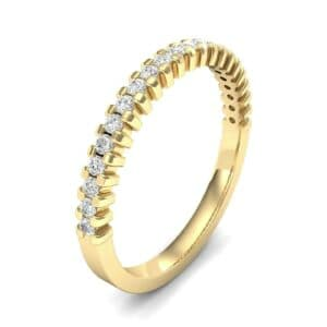 Extra-Thin Square Shared Prong Diamond Ring (0.18 Carat)