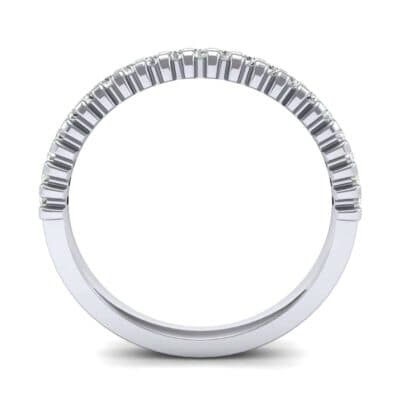 Extra-Thin Square Shared Prong Diamond Ring (0.18 CTW) Side View