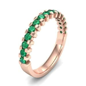 Square Shared Prong Emerald Ring (0.69 Carat)