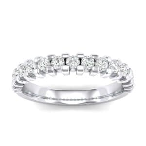 Square Shared Prong Diamond Ring (0.45 Carat)