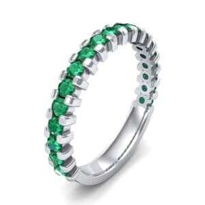 Square Shared Prong Emerald Ring (0.88 Carat)