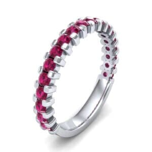 Square Shared Prong Ruby Ring (0.88 Carat)