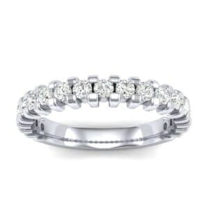 Square Shared Prong Diamond Ring (0.57 Carat)