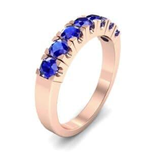 Seven-Stone Blue Sapphire Ring (1.12 Carat)