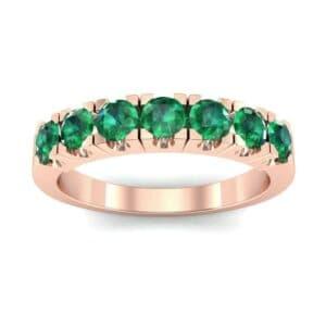 Seven-Stone Emerald Ring (1.12 Carat)