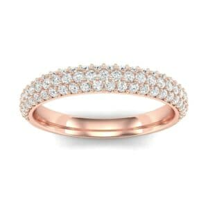 Three-Row Pave Diamond Ring (0.54 Carat)