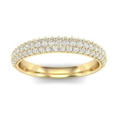 Three-Row Pave Diamond Ring (0.54 Carat)