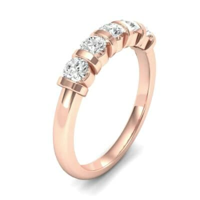 Round Bar-Set Five-Stone Diamond Ring (0.55 CTW)