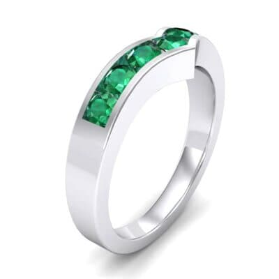Channel-Set Peak Emerald Ring (0.65 Carat)