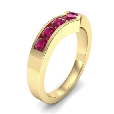Channel-Set Peak Ruby Ring (0.65 Carat)