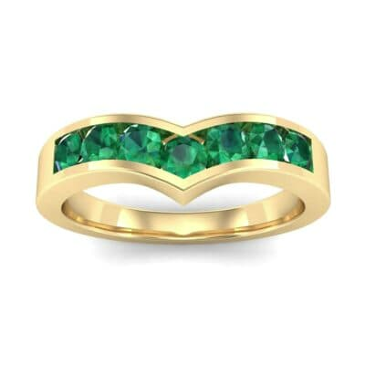 Channel-Set Peak Emerald Ring (0.65 CTW) Top Dynamic View
