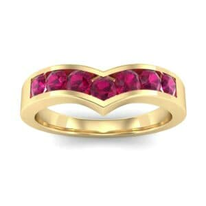 Channel-Set Peak Ruby Ring (0.65 Carat)