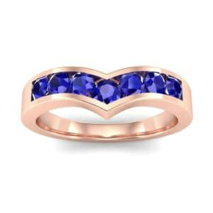 Channel-Set Peak Blue Sapphire Ring (0.65 Carat)