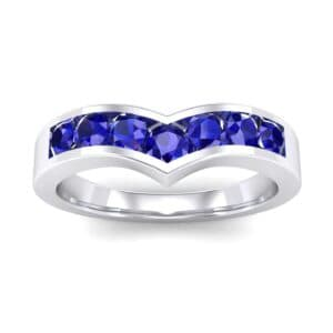 Channel-Set Peak Blue Sapphire Ring (0.65 Carat)
