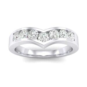 Channel-Set Peak Diamond Ring (0.44 Carat)