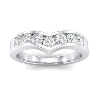 Channel-Set Peak Diamond Ring (0.44 Carat)