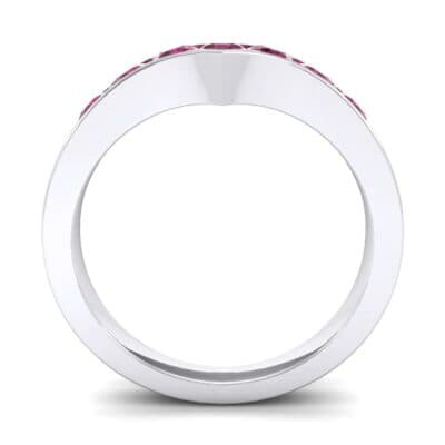 Channel-Set Peak Ruby Ring (0.65 CTW) Side View