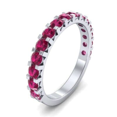 Square Prong Ruby Ring (1.26 CTW) Perspective View