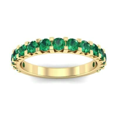 Square Prong Emerald Ring (1.26 Carat)
