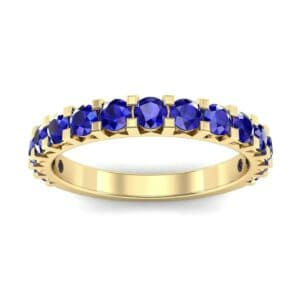 Square Prong Blue Sapphire Ring (1.26 Carat)