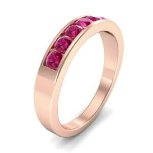 Channel-Set Seven-Stone Ruby Ring (0.65 Carat)